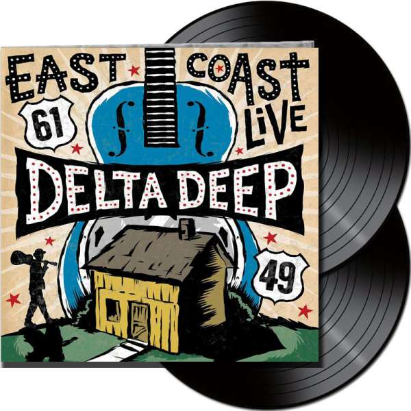 DELTA DEEP - East Coast Live - Ltd. Gatefold BLACK 2-LP