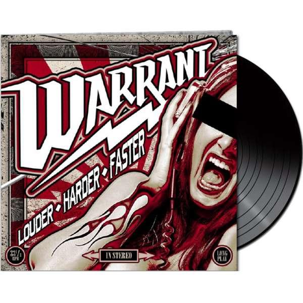 WARRANT - Louder Harder Faster - Ltd. Gatefold BLACK LP