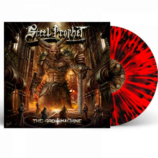 STEEL PROPHET - The God Machine - LTD. Red/Black Splatter LP