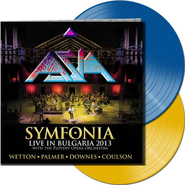 ASIA - Symfonia: Live In Bulgaria 2013 - Ltd. Gatefold TRANSPARENT BLUE & YELLOW 2-LP