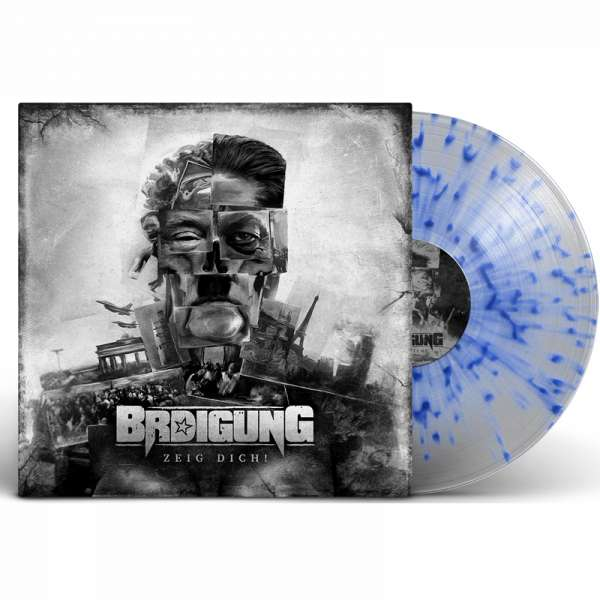 BRDIGUNG - Zeig Dich! - Ltd. CLEAR/BLUE SPLATTER LP
