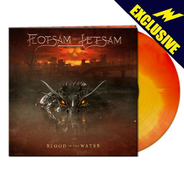 FLOTSAM AND JETSAM - Blood In The Water - Ltd. Gatefold RED/YELLOW COLOR-IN-COLOR LP - Exclusive!