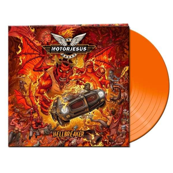 MOTORJESUS - Hellbreaker - Ltd. Gatefold CLEAR ORANGE LP