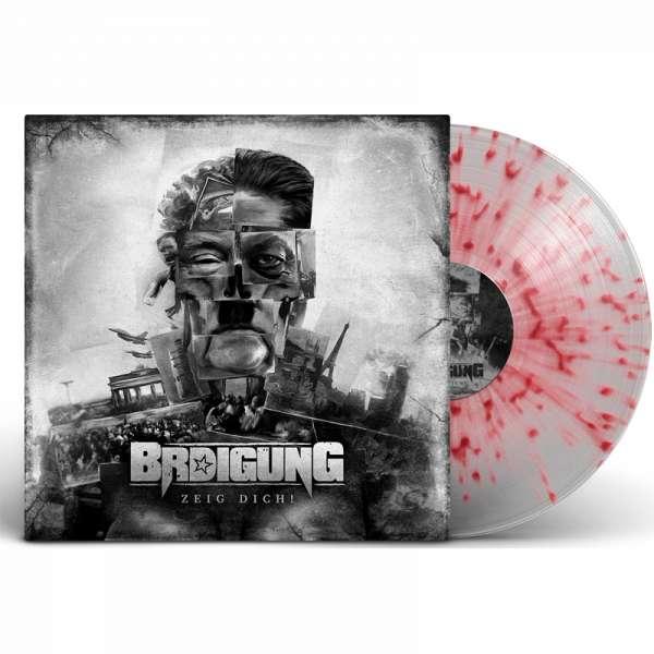BRDIGUNG - Zeig Dich! - Ltd. CLEAR/RED SPLATTER LP